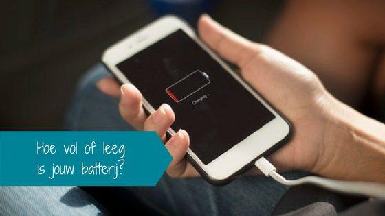 Hoe vol of leeg is jouw batterij?
